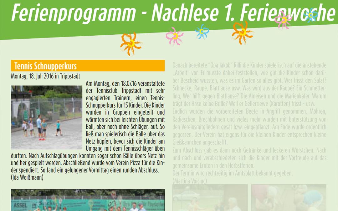 Ferienprogramm – Tennis Schnupperkurs