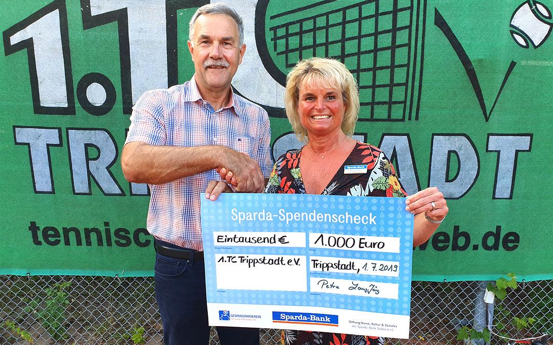 Sparda-Bank Spende für die Kinder- und Jugendförderung des 1. TC Trippstadt